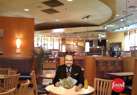 James Lipton eating free samples at Panera Bread
