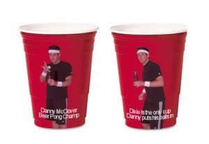 McClover on Red Dixie Cups